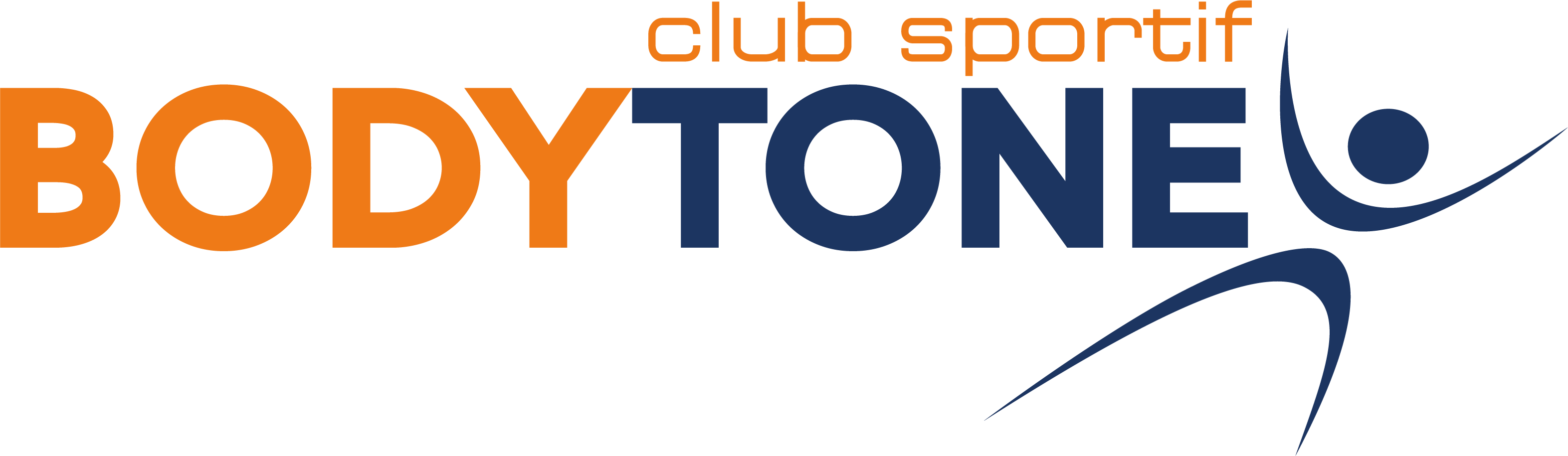 Bodytone written in caps in orange and blue